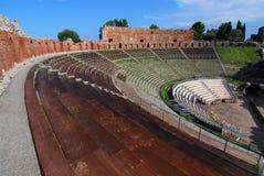 Grieks theater van Taormina (Sicilië) Stock Fotografie