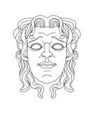 Grieks theatraal masker van een jonge mens Stock Foto