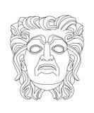 Grieks theatraal masker van een oude mens Royalty-vrije Stock Foto