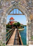 Grieks traditioneel huis dat bij eiland Kithira wordt gevestigd Royalty-vrije Stock Afbeelding