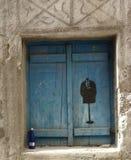 Grieks venster Stock Foto