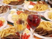 Grieks voedsel stock afbeeldingen