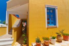 Griekse architectuur van eiland Santorini Royalty-vrije Stock Fotografie