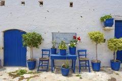 Griekse binnenplaats Royalty-vrije Stock Afbeeldingen