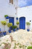 Griekse binnenplaats Royalty-vrije Stock Foto's