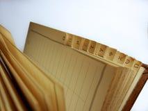 Griekse brieven op een emty boek stock afbeeldingen