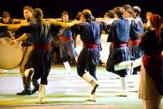Griekse dansers royalty-vrije stock afbeeldingen