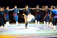 Griekse dansers Stock Foto's