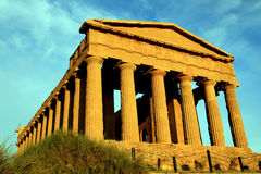 Griekse de tempelruïnes van Concordia. Agrigento, Italië Stock Afbeeldingen
