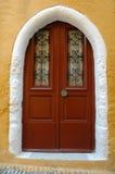 Griekse deur Royalty-vrije Stock Foto's