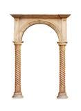 Griekse die kolom op witte achtergrond wordt geïsoleerd Royalty-vrije Stock Foto