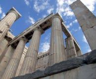 Griekse Dorische kolommen Stock Fotografie