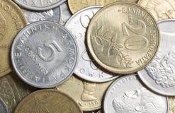 Griekse drachmemuntstukken Stock Foto's