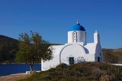 Griekse eilanden, kleine kerkamorgos royalty-vrije stock foto's