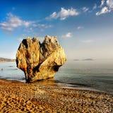 Griekse Eilanden, Overzeese Klippen, Kustlandschap, Stranden royalty-vrije stock foto