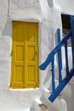 Griekse eilandendeuren Stock Afbeelding