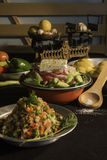 Griekse en gemengde salade Stock Afbeelding