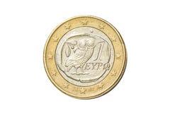 Griekse euro muntstuk stock fotografie