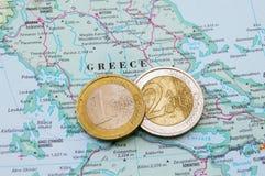 Griekse financiën royalty-vrije stock afbeelding