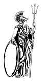 Griekse Godin Athena Warrior stock illustratie