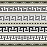 Griekse grenzeninzameling Stock Afbeeldingen