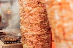 Griekse gyroscopen, vlees royalty-vrije stock afbeeldingen