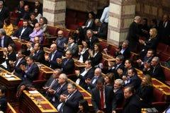 Griekse het parlementszitting Stock Afbeeldingen