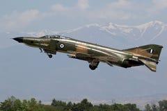 Griekse het vliegtuigstart van de luchtmachtf4 Spookvechter Stock Afbeelding
