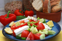 Griekse horizontale salade stock foto