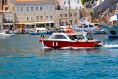 Griekse jachten royalty-vrije stock afbeelding