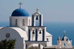 Griekse kerk Stock Foto's