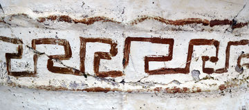 Griekse kerkdetails Stock Foto
