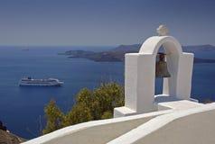 Griekse klokketoren Stock Foto