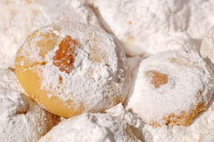 Griekse koekjes in bakkerijwinkel Stock Afbeeldingen