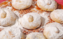 Griekse koekjes in bakkerijwinkel Royalty-vrije Stock Foto