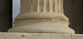 Griekse kolom in Athene Stock Foto