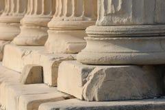Griekse kolommen royalty-vrije stock foto