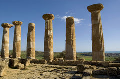 Griekse kolommen royalty-vrije stock afbeeldingen