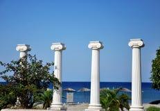 Griekse kolommen Stock Foto
