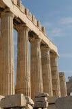 Griekse kolommen, akropolis, Athene Stock Foto