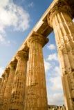 Griekse kolommen, Sicilië Royalty-vrije Stock Foto