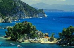 Griekse kust no.1 Stock Afbeeldingen