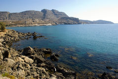 Griekse kustlijn stock foto's