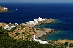 Griekse kustlijn Stock Afbeeldingen