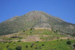 Griekse luxe: Mycenae Stock Afbeeldingen