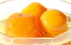 Griekse Mandarin Jam in een Kom van het Glas Royalty-vrije Stock Afbeeldingen