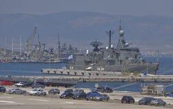 Griekse marineboten Royalty-vrije Stock Afbeeldingen