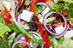 Griekse Mediterrane salade Stock Fotografie