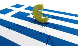 Griekse neerstorting Stock Afbeeldingen