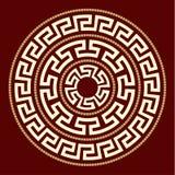 Griekse ornamentenronde Royalty-vrije Stock Afbeeldingen
